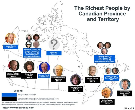 richest canadians