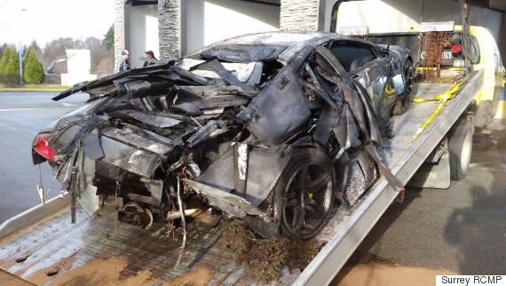 lamborghini surrey crash