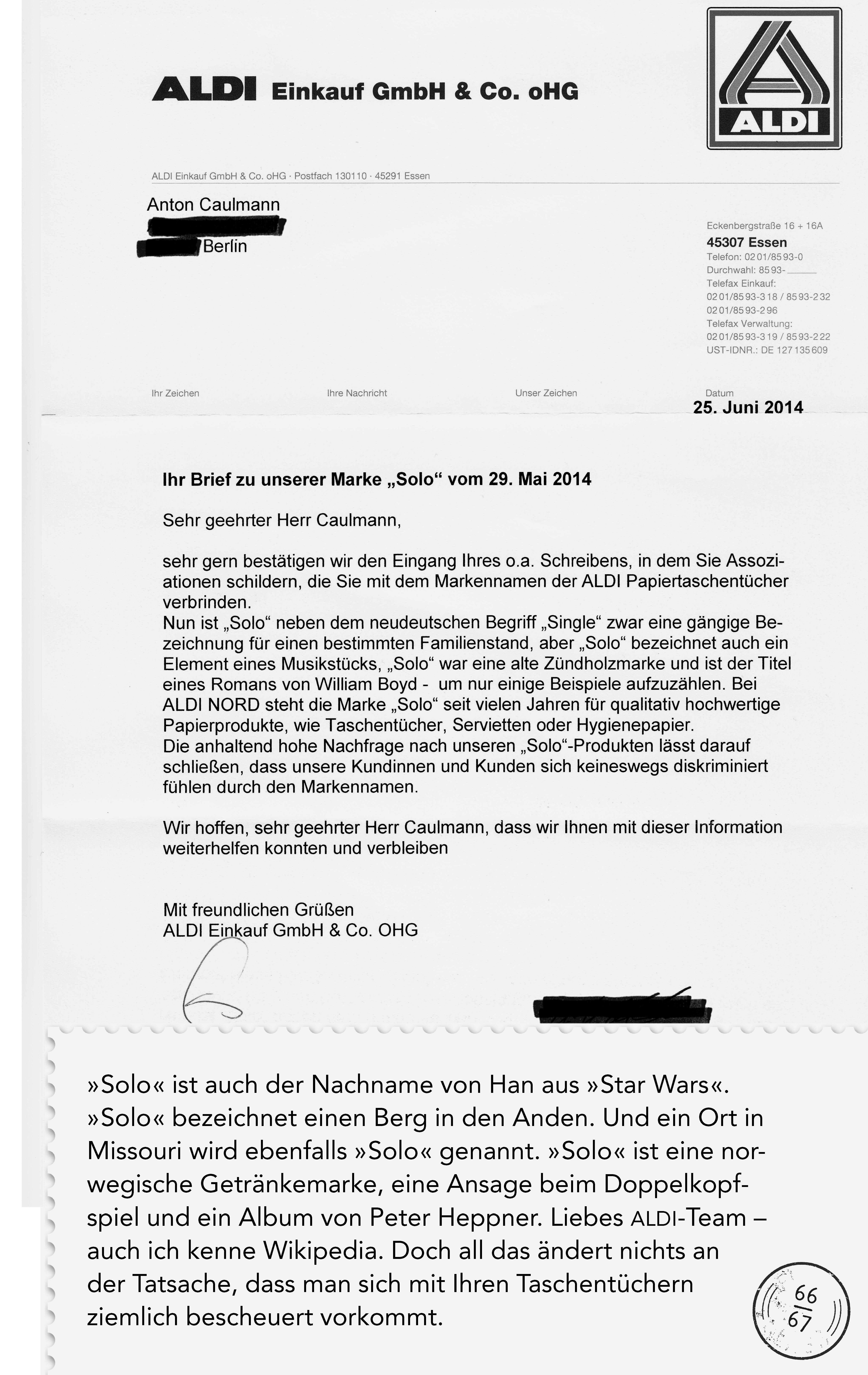 Mein Briefwechsel Mit Aldi Wegen Eines Diskriminierenden