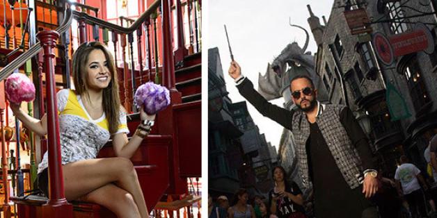 Becky G Y Yandel Se Divirtieron En Los Juegos De Harry Potter En