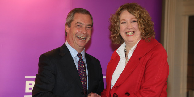 Ukip leader Nigel Farage with Harriet Yeo who was today named as Ukip's new Folkestone and Hythe general election candidate following the expulsion of Janice Atkinson over allegations of an inflated expenses claim during a press conference in Folkestone, Kent.
