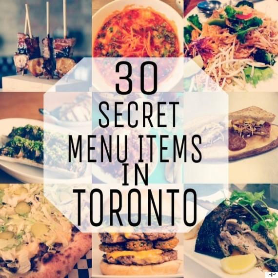 secret menu toronto