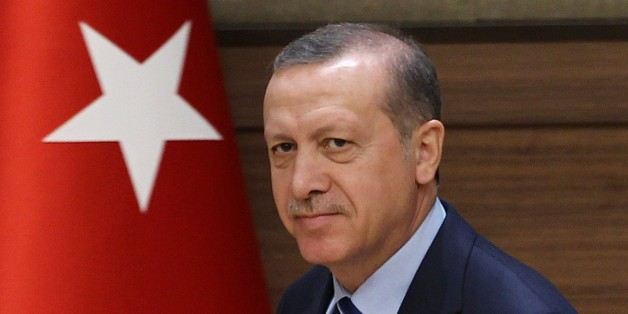 ANKARA, TURKEY - MARCH 23: Turkish President Recep Tayyip Erdogan attends the mukhtars meeting at the presidential palace in Ankara, Turkey, on March 23, 2015. President Erdogan meets with the mukhtars for the fifth time at the presidential palace, as part of a plan to meet around 50,000 such Mukhtars across the country. (Photo by Murat Kaynak/Anadolu Agency/Getty Images)