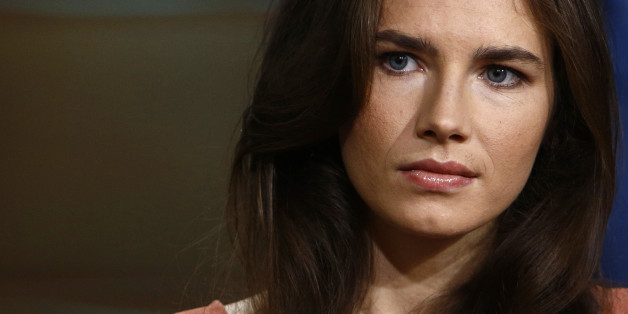 "This image released by NBC shows Amanda Knox during an interview on the ""Today"" show, Friday, Sept. 20, 2013 in New York. Knox defended her decision not to return to Italy for a new appeals trial over the 2007 killing of her British roommate, even as she acknowledged that ""everything is at stake,"" insisting she is innocent. In March, Italy's supreme court ordered a new trial for Knox and her former Italian boyfriend. An appeals court in 2011 had acquitted both, overturning convictions by a lower"