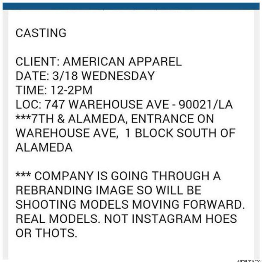 american apparel casting