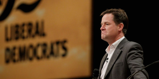 Deputy Prime Minister Nick Clegg during a question and answer session at the Liberal Democrat Annual Conference in Brighton.