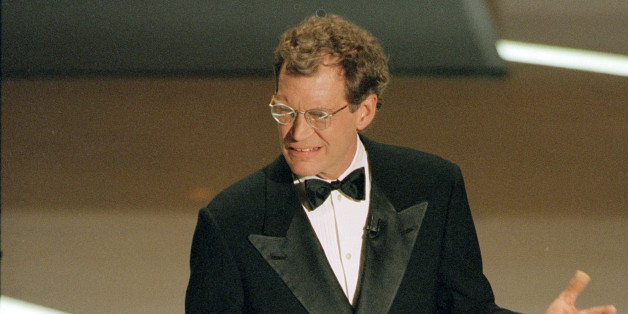 David Letterman is shown during his opening monologue as host of the 67th annual Academy Awards at the Shrine Auditorium in Los Angeles, Ca., Monday, March 27, 1995.  (AP Photo/Michael Caulfield)