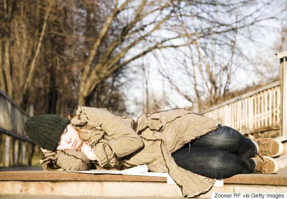 homeless women