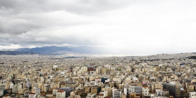 View of a city, Athens, Greece.