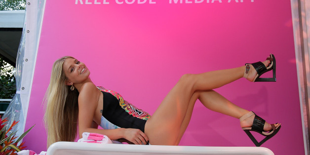 MIAMI BEACH, FL - JULY 21:  Danielle Knudson models for Reel Code At Mercedes-Benz Fashion Week Swim 2014 at Raleigh Hotel on July 21, 2013 in Miami Beach, Florida.  (Photo by Randy Brooke/WireImage)