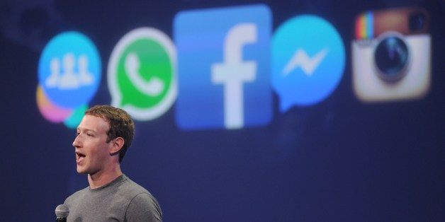 Facebook CEO Mark Zuckerberg speaks at the F8 summit in San Francisco, California, on March 25, 2015. Zuckerberg introduced a new messenger platform at the event.   AFP PHOTO/JOSH EDELSON        (Photo credit should read Josh Edelson/AFP/Getty Images)