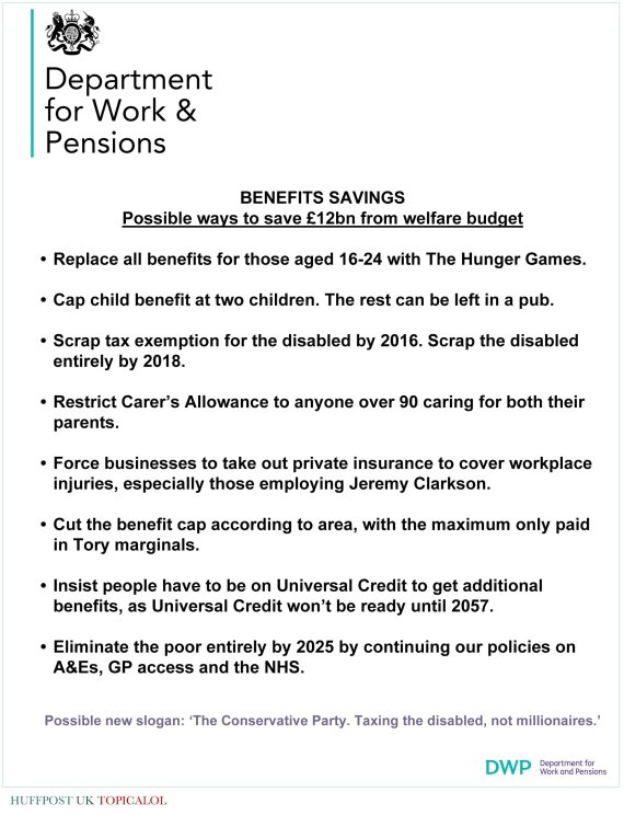 government welfare cuts spoof