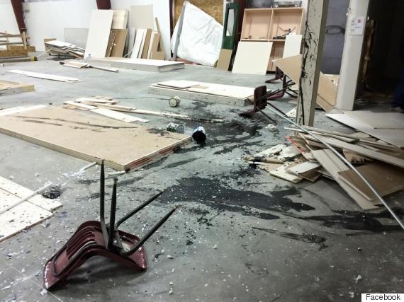 ponoka gym vandalism