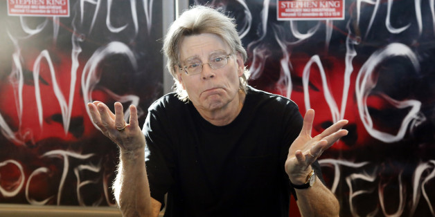 US author Stephen King poses for the cameras, during a promotional tour for his latest novel, 'Doctor Sleep', a sequel to 'The Shining',  at a library in Paris, Wednesday,  Nov. 13, 2013. (AP Photo/Francois Mori)