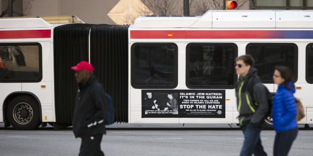 Islamhass: Öffentliche Busse mit Hitler-Bildern fahren durch Philadelphia