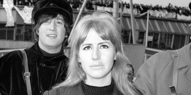 Maureen Starr, wife of Beatle drummer Ringo Starr, left, and Cynthia Lennon, wife of John Lennon, at London airport in England on March 13, 1965, prior to flying out with husbands and other members of the Beatle group to Salzburg, Austria, where the group are to continue work on their second film. (AP Photo/Victor Boyton)