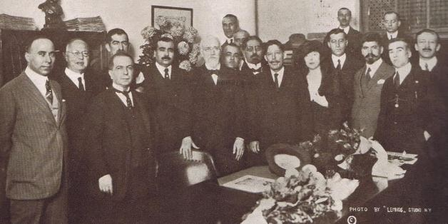 Ο Ελευθέριος Βενιζέλος στα γραφεία του Εθνικού Κήρυκα το 1921