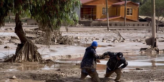 Φωτογραφία αρχείου από τις πλημμύρες στο Κοπιάπο της Χιλής στις 26 Μαρτίου 2015