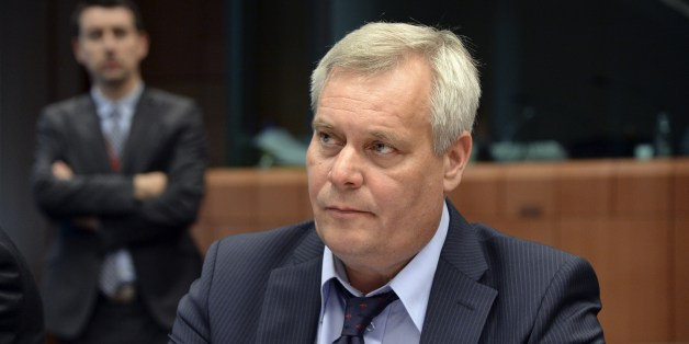 Finland's new Finance Minister Antti Rinne attends the start of a Eurogroup meeting held at the EU Council building in Brussels, on July 7, 2014. AFP Photo/Thierry Charlier        (Photo credit should read THIERRY CHARLIER/AFP/Getty Images)