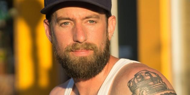 Bearded man in Toronto, Ontario, Canada.