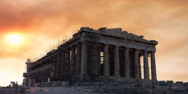 Photos prises lors de notre visite à l'Acropole d'Athènes le 22 aout 2009, le matin du début de l'incendie.