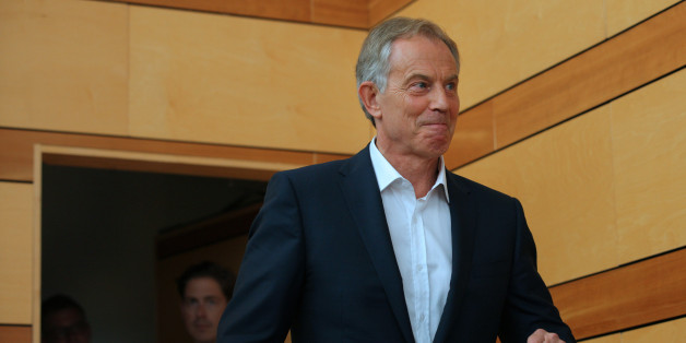 Tony Blair, former U.K. prime minister, arrives to speak during the Aspen Ideas Festival in Aspen, Colorado.