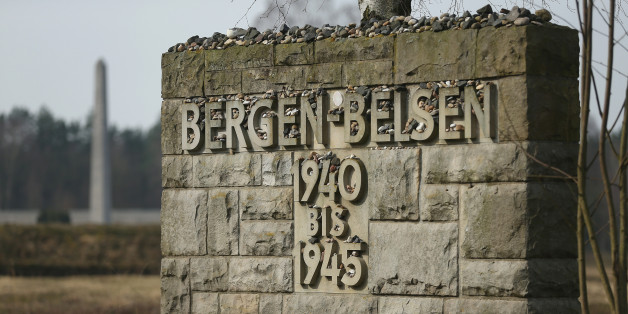 LOHHEIDE, GERMANY - MARCH 17:  A memorial stands covered with stones left by visitors at the site of the former Bergen-Belsen concentration camp on March 17, 2015 in Lohheide, Germany. Germany will commemorate the 70th anniversary of the liberation of Bergen-Belsen by British troops on April 15. An estimated 70,000 inmates died at the hands of the Nazis at Bergen-Belsen, including Jews and Soviet prisoners of war.  (Photo by Sean Gallup/Getty Images)