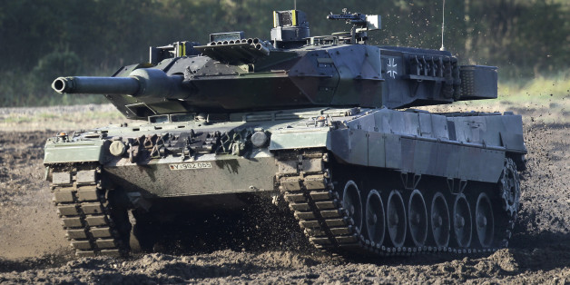 A Leopard 2 tank is pictured during a demonstration event held for the media by the German Bundeswehr in Munster near Hannover, Germany, Wednesday, Sept. 28, 2011. (AP Photo/Michael Sohn)