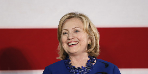 Former U.S. Secretary of State Hillary Rodham Clinton speaks at a rally for U.S. Senate candidate Gary Peters and gubernatorial candidate Mark Schauer at Oakland University in Auburn Hills, Mich., Thursday, Oct. 16, 2014.  (AP Photo/Paul Sancya)