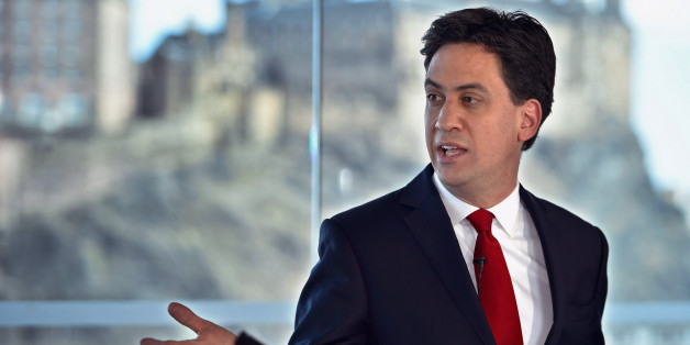 EDINBURGH, SCOTLAND - APRIL 10:  Labour Leader Ed Miliband is seen as he holds a joint press conference on April 10, 2015 in Edinburgh, Scotland. Labour's Ed Miliband, told journalists on a visit to Scotland, that he will promise not to sell Scotland short by backing SNP plans for fiscal autonomy if he was elected as the next prime minister.  (Photo by Jeff J Mitchell/Getty Images)