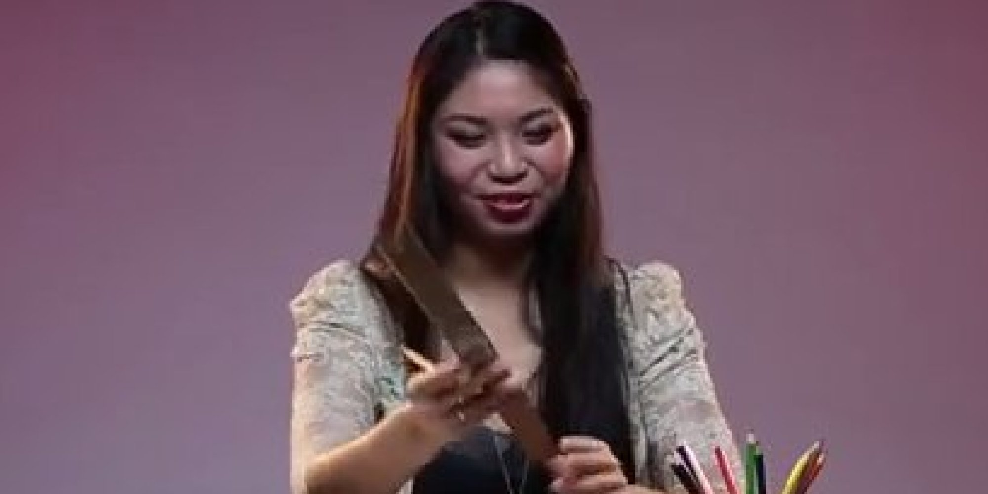 Woman fingering herself big tits