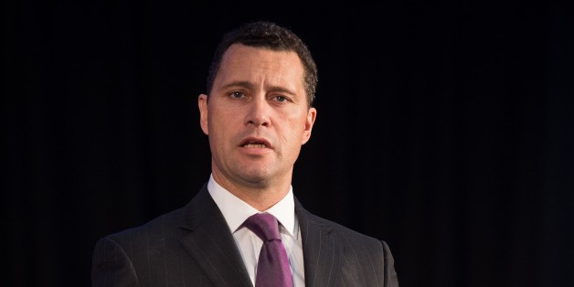 United Kingdom Independence Party (UKIP) Migration spokesman Steven Woolfe addresses supporters and media personnel in central London on March 4, 2015, as the party unveils its policy on immigration, ahead of the 2015 general election. Britons will go to the polls in a general election on May 7, 2015. AFP PHOTO / LEON NEAL        (Photo credit should read LEON NEAL/AFP/Getty Images)