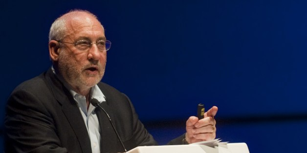 Economic Sciences Nobel Prize laureate Joseph Stiglitz speaks during his conference as part of the World Urban Forum 7 in Medellin, Antioquia department, Colombia on April 8, 2014. Medellin was chosen by popular vote through the internet as 'Innovative City of the Year' in a contest organized by The Wall Street Journal and Citigroup in 2013. The distinction was basically made for its modern transportation system, public library, escalators built in a shantytown and schools that have allowed the integration of society. AFP PHOTO/Raul ARBOLEDA        (Photo credit should read RAUL ARBOLEDA/AFP/Getty Images)