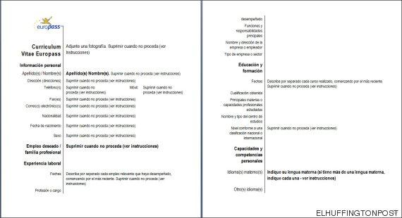 las candidaturas de empleo de aquellos que quieran trabajar en diferentes pases del continente el modelo est compuesto por cinco documentos cv