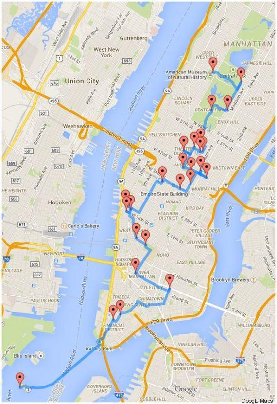 visiter new york le parcours id al calcul par un