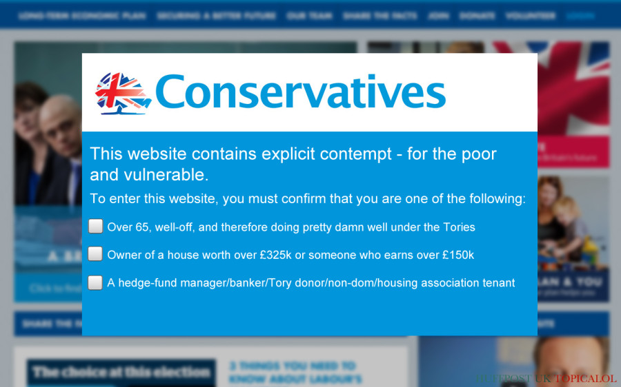 tory website age check
