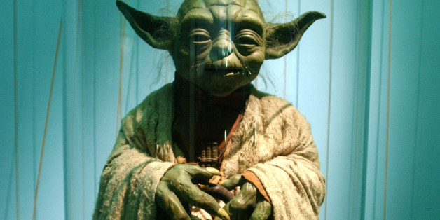 403367 10: An original model of Yoda is displayed April 4, 2002 at the exhibit 'Star Wars: The Magic of the Myth' at the Brooklyn Museum of Art in Brooklyn, New York. The exhibition, which is making its last stop in the United States, presents original costumes, models, props and artwork used in the original film trilogy; 'Star Wars: A New Hope,' 'The Empire Strikes Back' and 'Return of the Jedi.' (Photo by Spencer Platt/Getty Images)