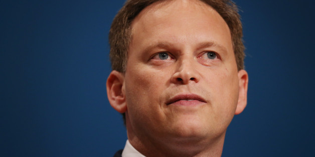 Party chairman Grant Shapps (C) addresses delegates at the Conservative party conference on September 28, 2014 in Birmingham, England. The governing Conservative party are holding their yearly conference over the next four days.  (Photo by Peter Macdiarmid/Getty Images)