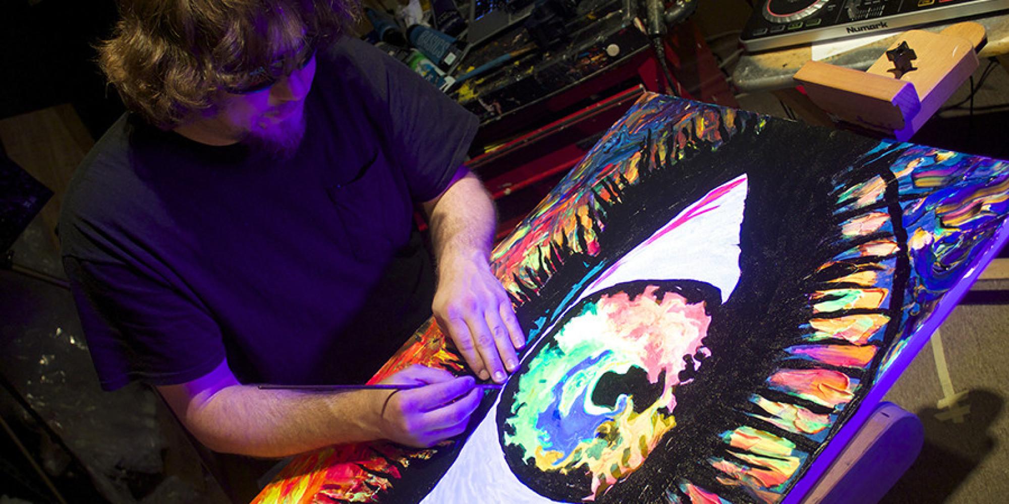 After Losing His Sight Painter John Bramblitt Feels The Colors On - Blind artist
