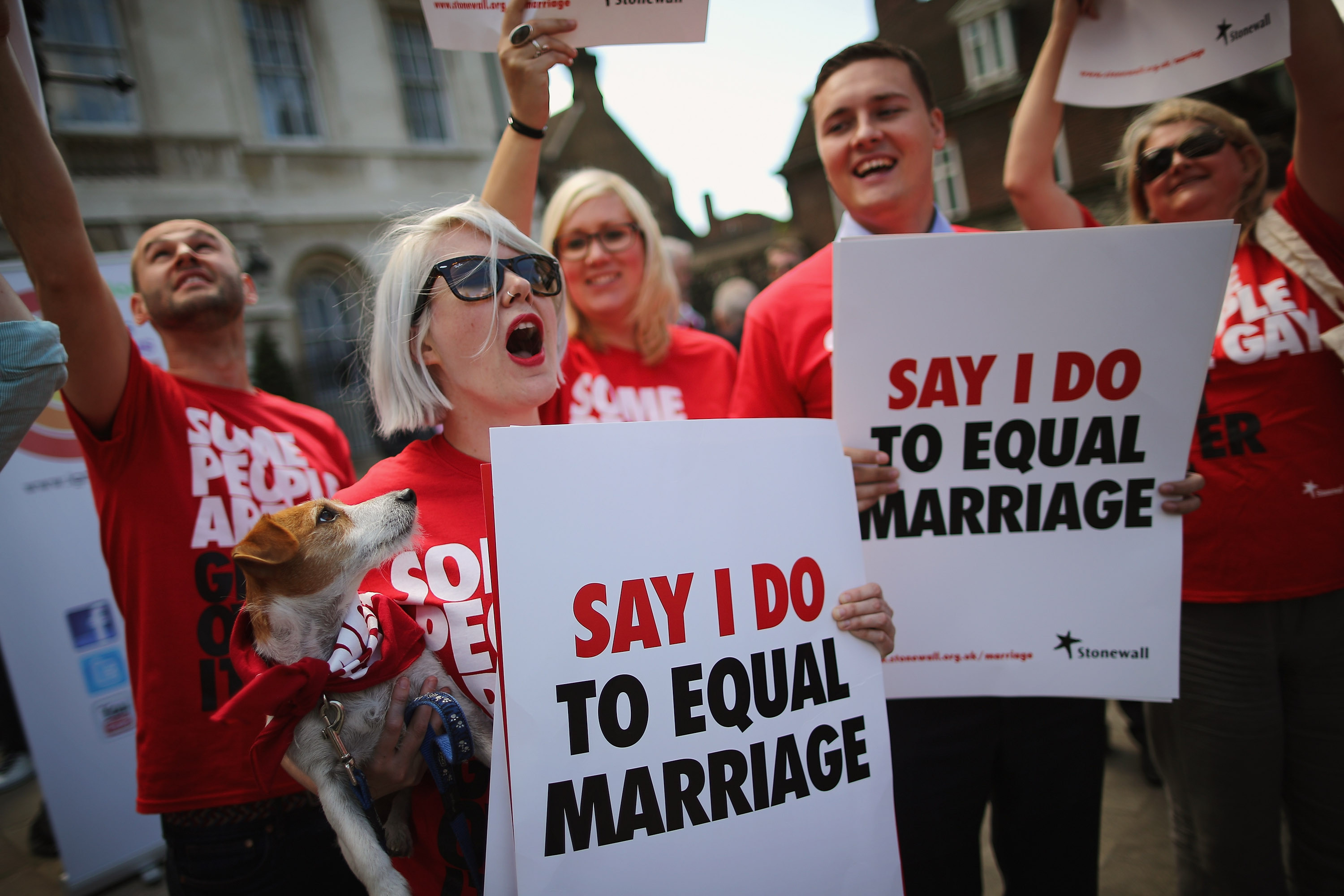 gay marriage protest uk