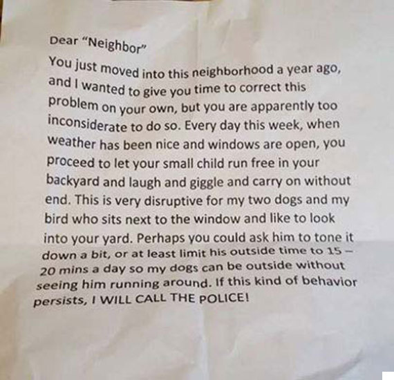 grumpy neighbour