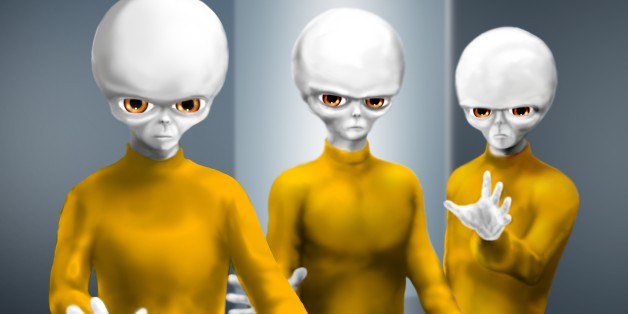 This is a depiction of three beings that Travis Walton says he confronted during what he described as a UFO abduction in 1975.