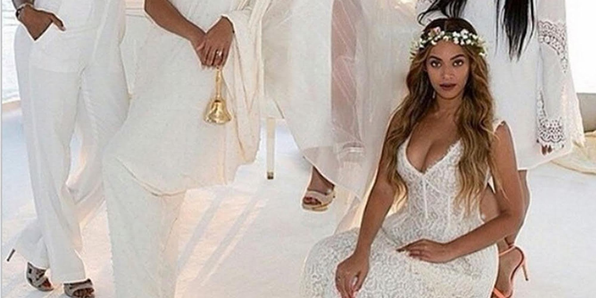 tina knowles wedding photo is perfection and blue ivy is