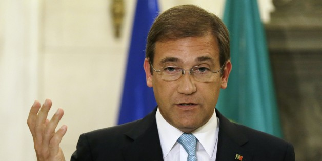 Portuguese Prime Minister Pedro Passos Coelho makes statements to the media after his meeting with Greek Prime Minister Antonis Samaras at the Maximos Mansion in Athens on Tuesday, Sept. 9, 2014. Coelho is expected to discuss post-bailout growth strategies with Greek officials. (AP Photo/Thanassis Stavrakis)