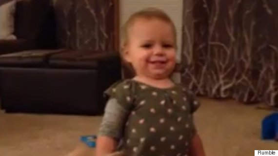 Adorable Toddler Imitates Her Pregnant Mum's Walk In Funny Home Video
