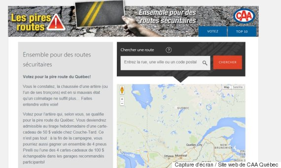 caa quebec pires routes