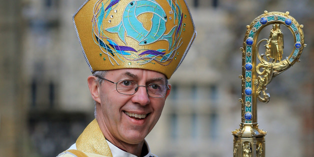 The Archbishop of Canterbury Justin Welby arrives for the Easter Day service at Canterbury Cathedral in Kent.