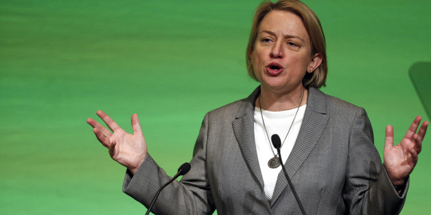Leader, Natalie Bennett  at the Green Party Conference in Liverpool.