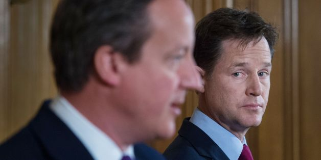 Prime Minister David Cameron and Deputy Prime Minister Nick Clegg hold a news conference at 10 Downing Street in London today where they talked about the confirmation that new laws are to be rushed through Parliament to allow police and MI5 to probe mobile phone and internet data.