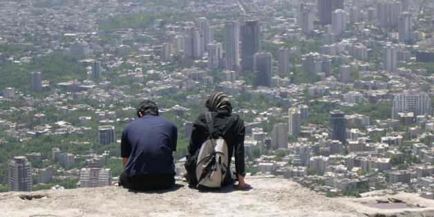 On the way back from the top of Tochal(mountain next to Tehran city)...Amazing catch